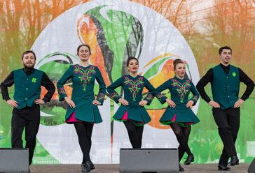 Выступление Московской школы ирландского танца Кельтерия на параде в честь Дня Святого Патрика в 2019 году в Сокольниках