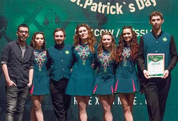 награждение от Чемпиона Мира по ирландским танцам