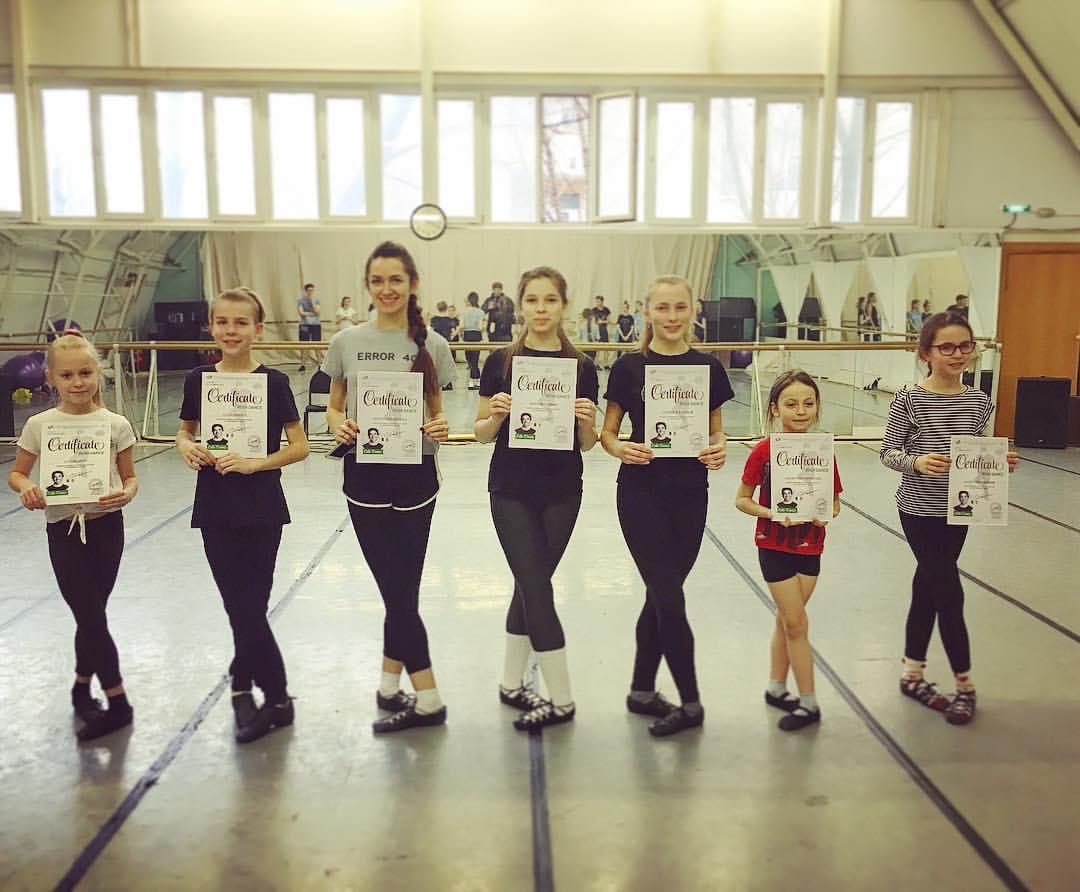 Ученики школы ирладнского танца Кельтерия получили дипломы за пройденные мастер-класссы