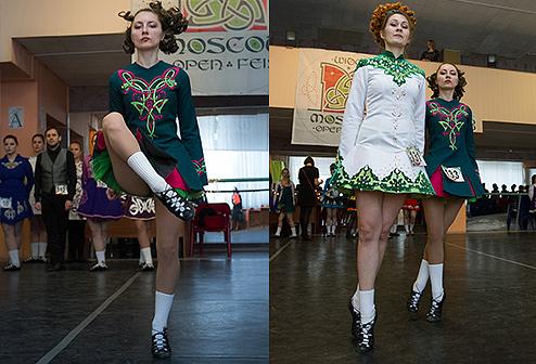 ученицы танцуют